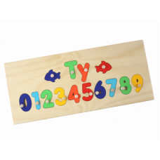 Name Numbers Puzzle Personalised Wooden Name with Numbers Puzzle