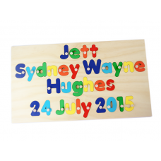 4 Line Full Name Puzzle with DOB Personalised Wooden Name Puzzles