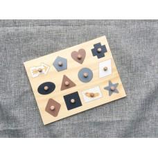 Wooden Puzzle - Bohemian Shapes puzzle  Educational Puzzles